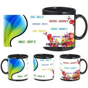 various quotes black mug