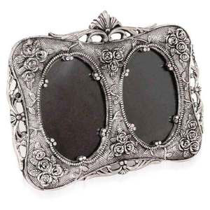 victorian double photoframe gift