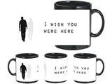 Wish You Were Here Black Mug