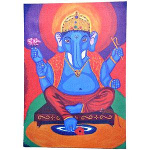 Wood Mounted Canvas of Sri Ganesh - image