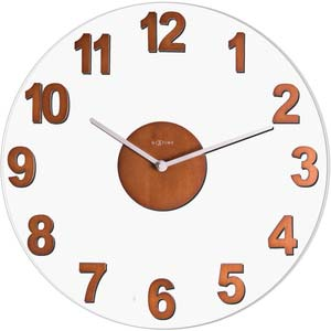 woody designer clock from nextime 2974br