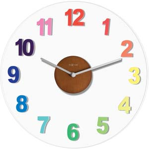 woody designer clock from nextime 2974di