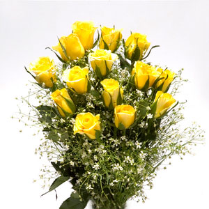 yellow roses bunch spring sunshine